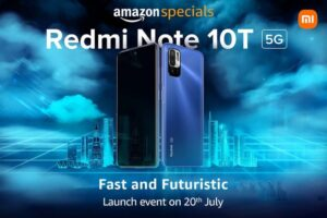 Read more about the article Redmi Note 10T 5G with 6.5-inch FHD+ 90Hz display, Dimensity 700, 5000mAh battery launching in India on July 20
