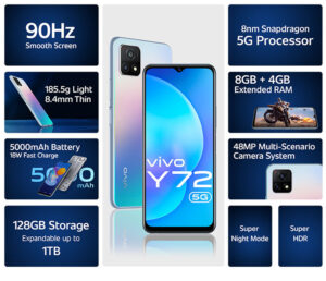 Read more about the article vivo Y72 5G with 6.58-inch FHD+ 90Hz display launched in India for Rs. 20990