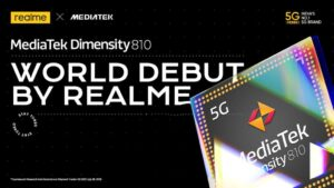 Read more about the article realme to introduce first Dimensity 810 powered 5G smartphone in India; realme 8s expected in near future