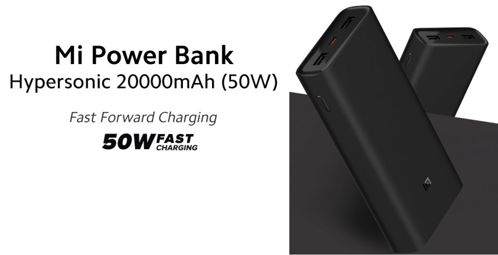 Read more about the article Mi Power Bank Hypersonic 20000mAh (50W) with 45W PD laptop charging launched