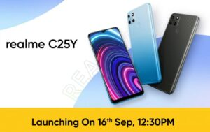 Read more about the article realme C25Y with 50MP rear camera launching in India on September 16